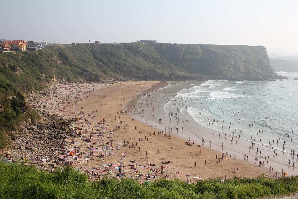 Playa de los Locos in Suances, Cantabria. Spain