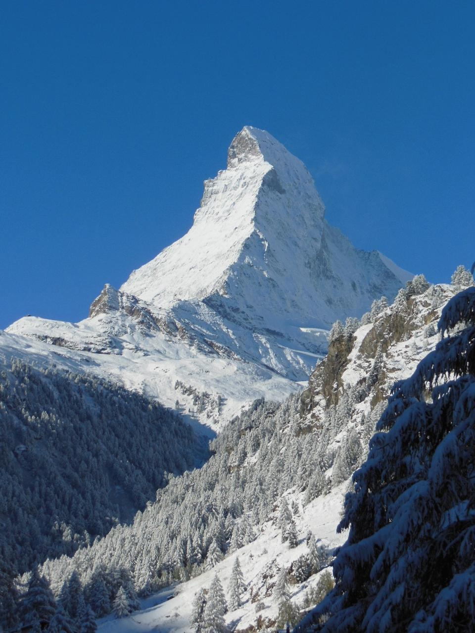 Alpine Mountain Snow Landscape Matterhorn Zermatt
