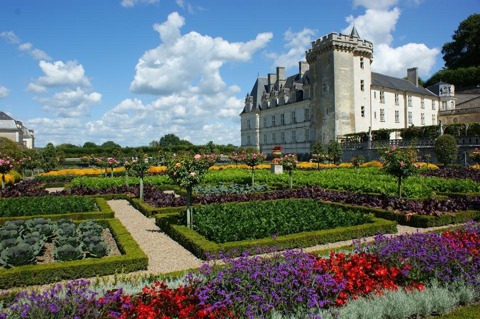 维朗德里城堡花园卢瓦尔河法国花