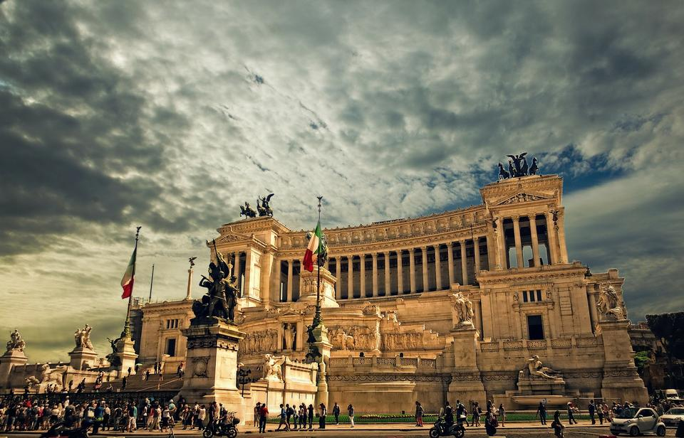 View of Monumento nazionale a Vittorio Emanuele II in Rome, Italy