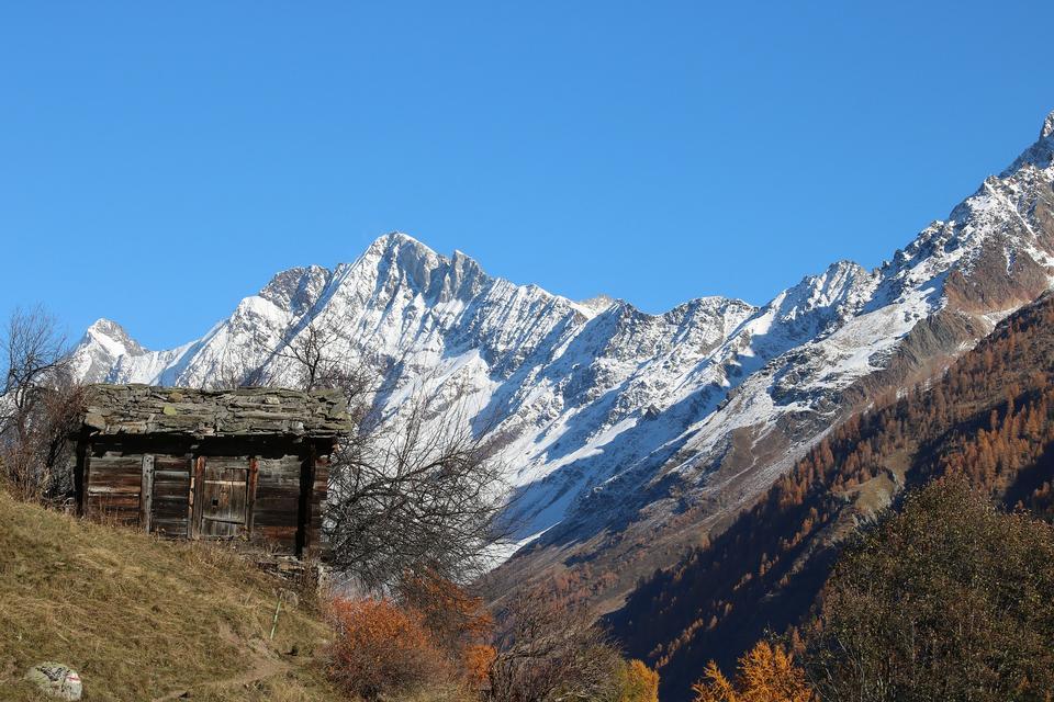 Switzerland Lötschental Alpine Valais Alp Alm
