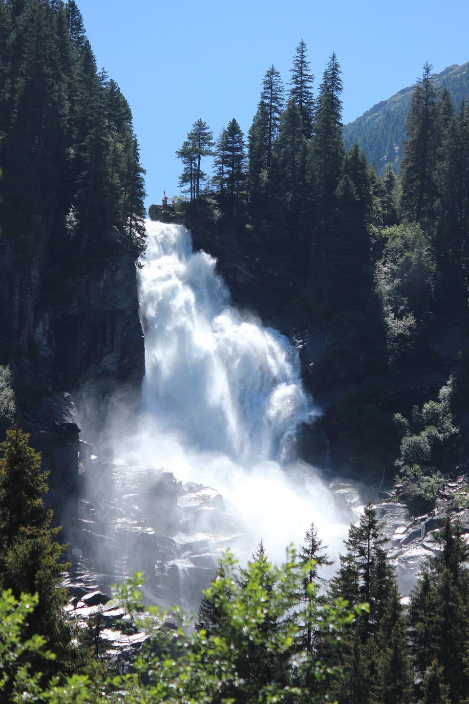 克里姆爾瀑布阿爾卑斯山奧地利