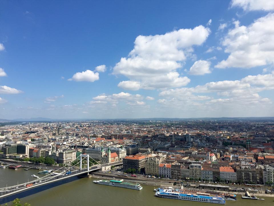 Panoramic view of city Budapest
