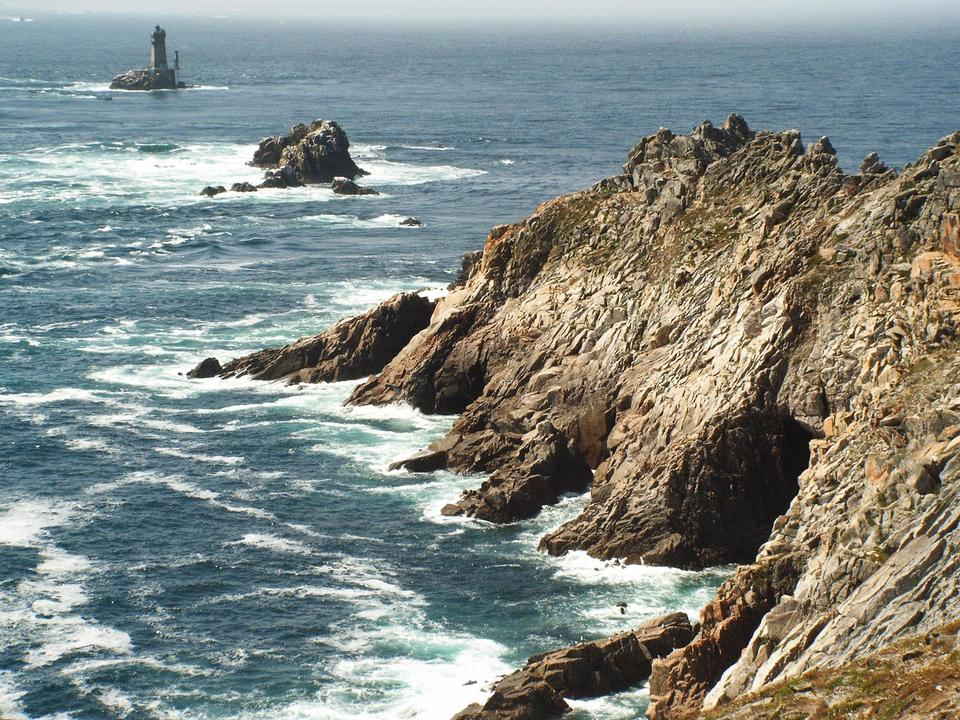 Promontory Rock Atlantic Ocean Brittany Finistere