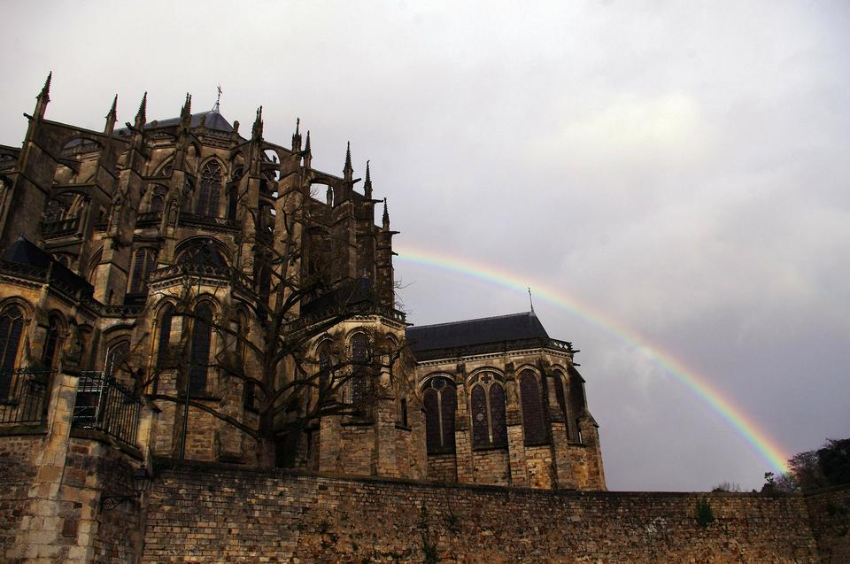 Cathedral France Le Mans Rainbow
