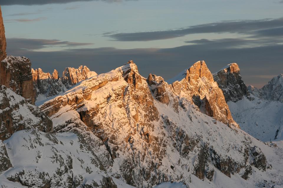 South Tirol, Dolomiten mountains view, Italian Alps