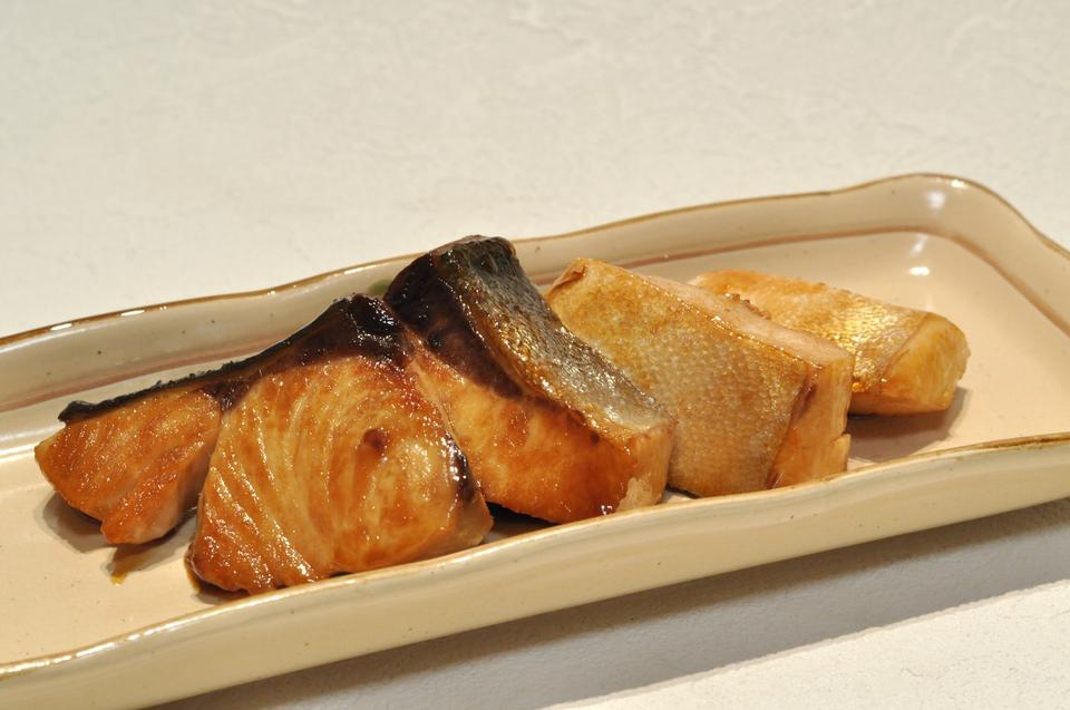 broiled teriyaki fish Japanese amberjack on plate