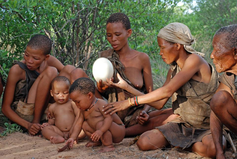 Bushmen family of Southern Africa