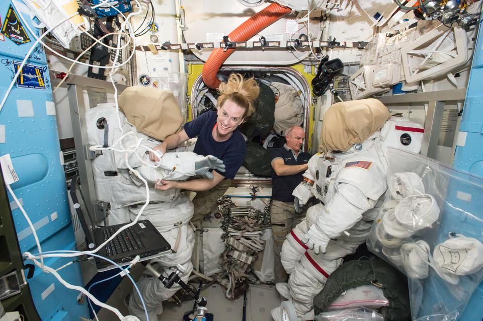 Astronauts IN International Space Station