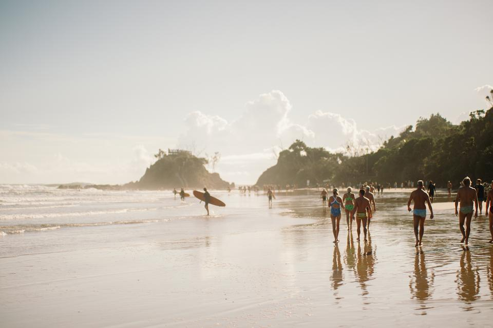 Beach of Byron Bay, Australia