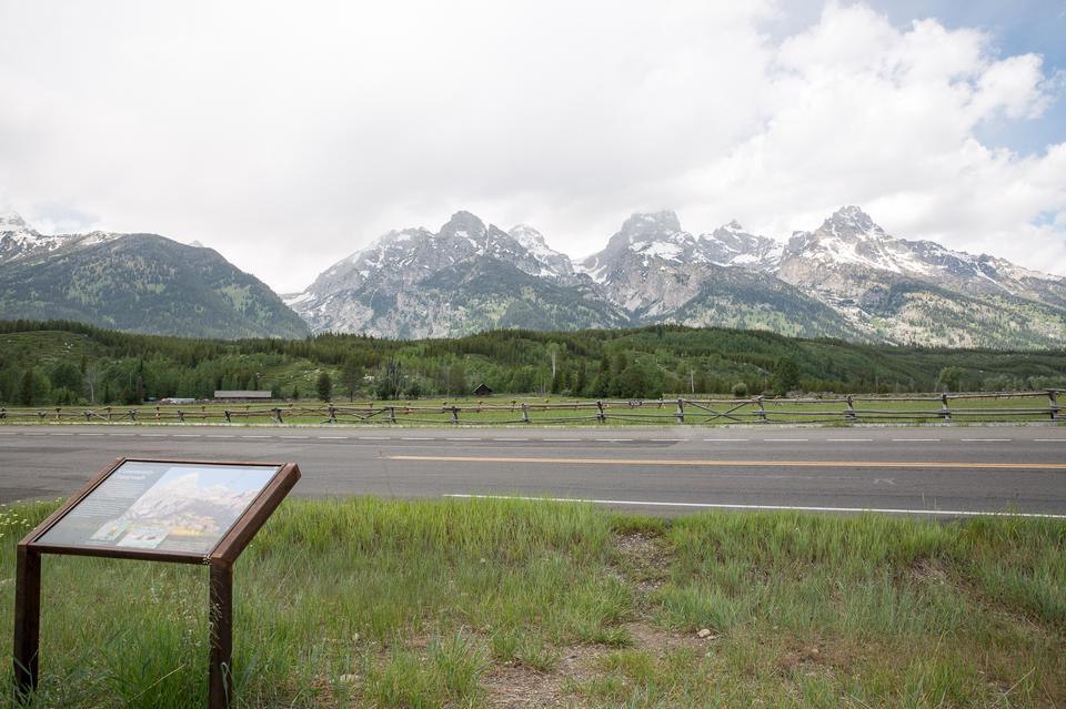グランドティトン国立公園のすばらしい山々