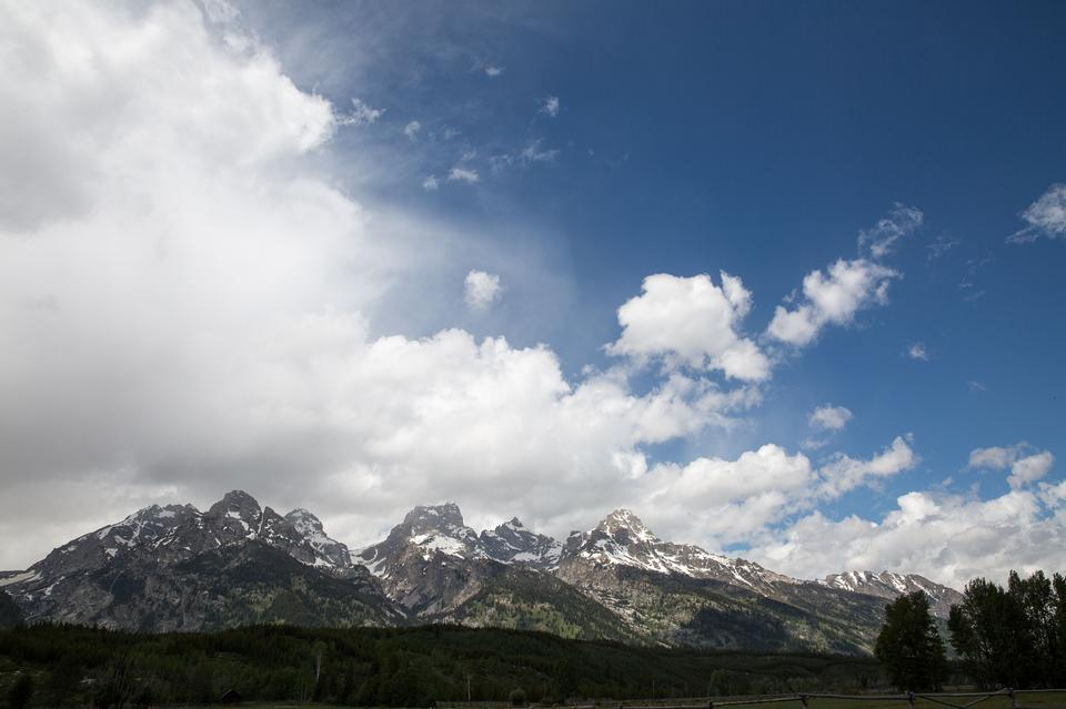 Amazing mountains in Grand Teton National Park