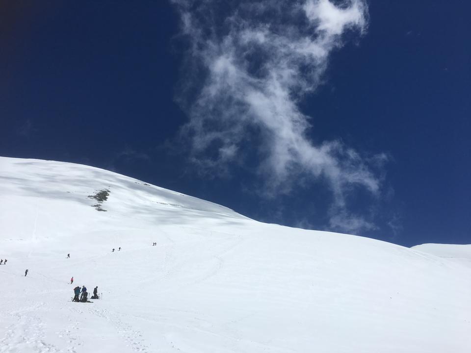 escursionisti squadra in montagna. Cervino. Alpi svizzere