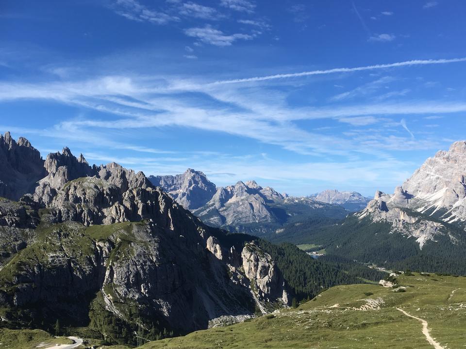 Paysage des Dolomites, Col de Giau, Italie