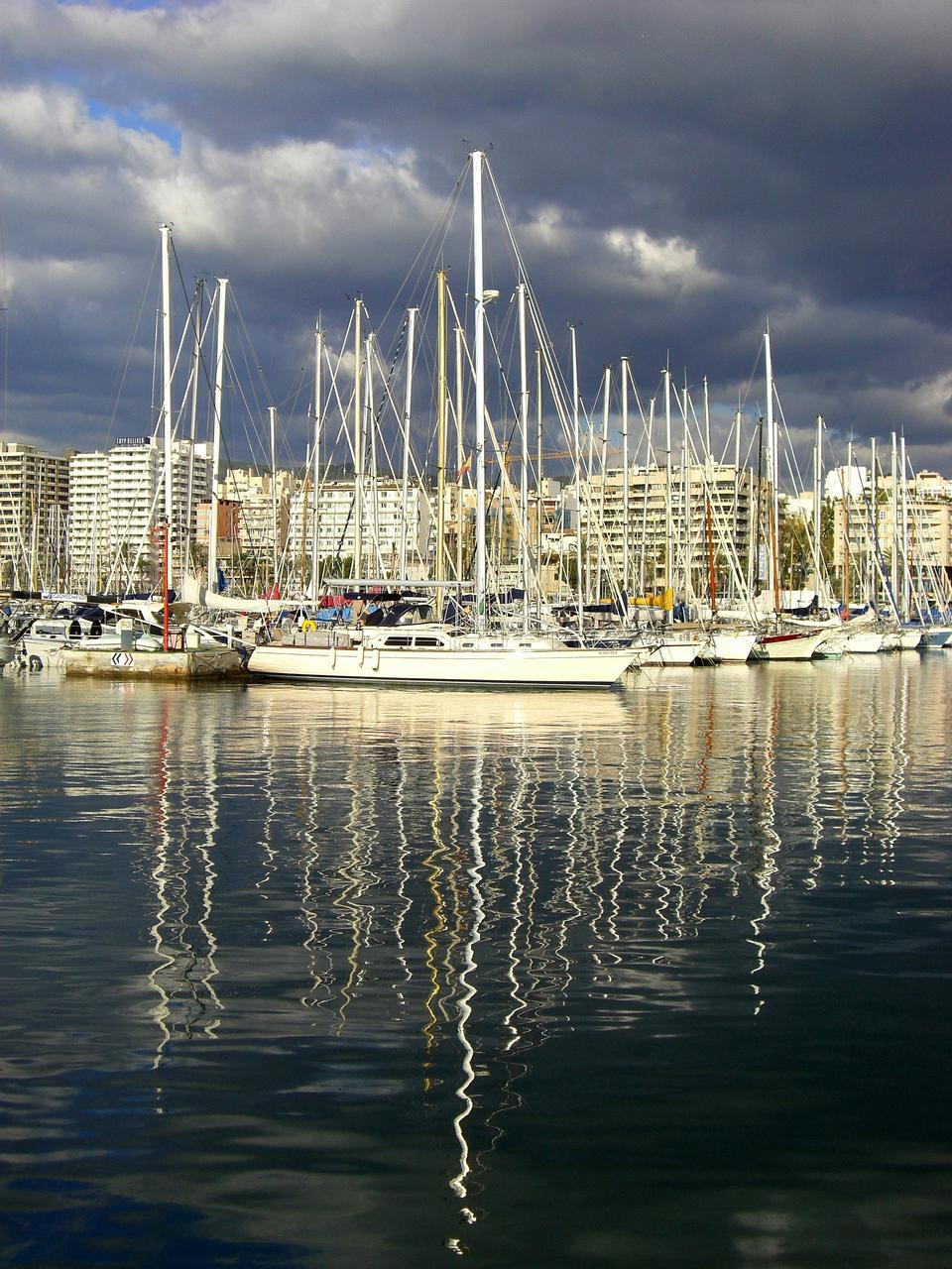 Marina in Palma de Mallorca city