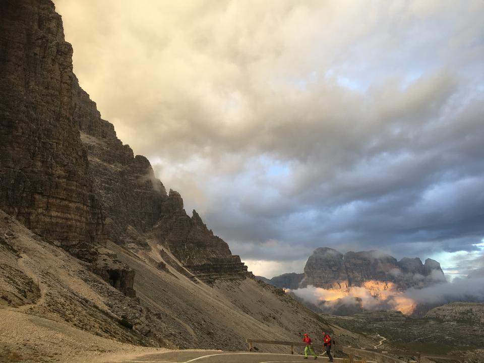 Dolomiti paesaggio, Passo Giau, Italia