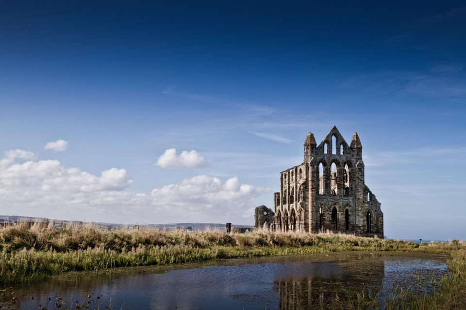 Historic view of Whitby Abbey