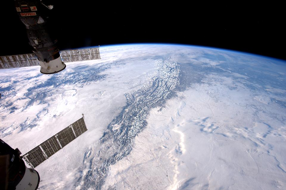 Rocky Mountains From  International Space Station