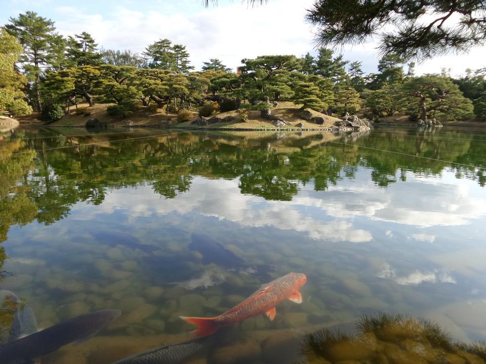 Japanese Garden in Takamatsu Japan