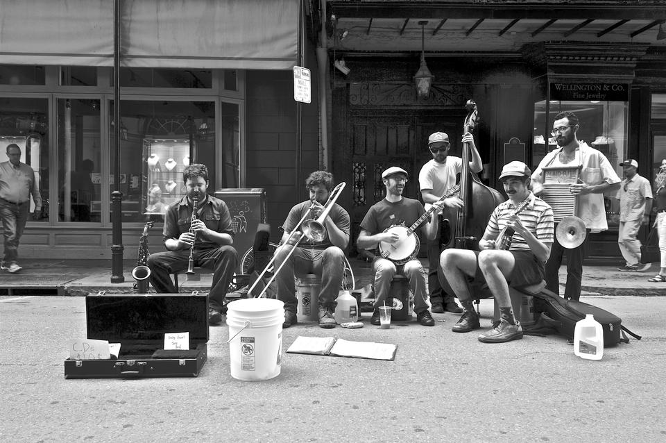 Street band in New Orleans