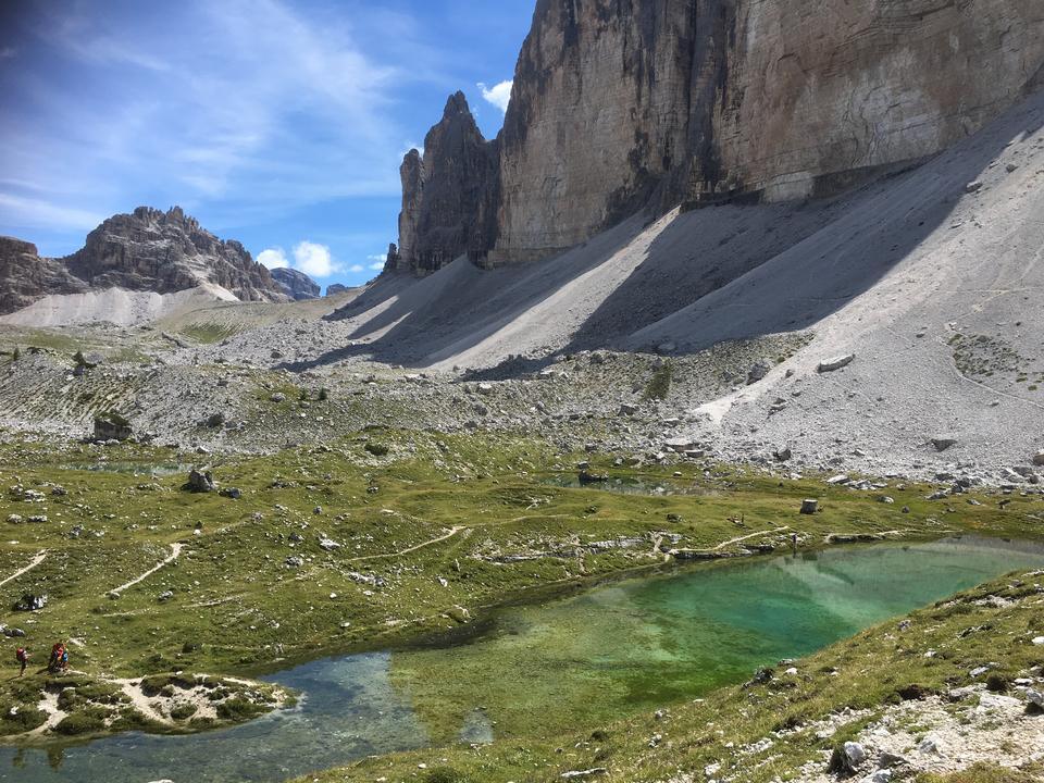 Tre Cime。白雲石阿爾卑斯山,意大利