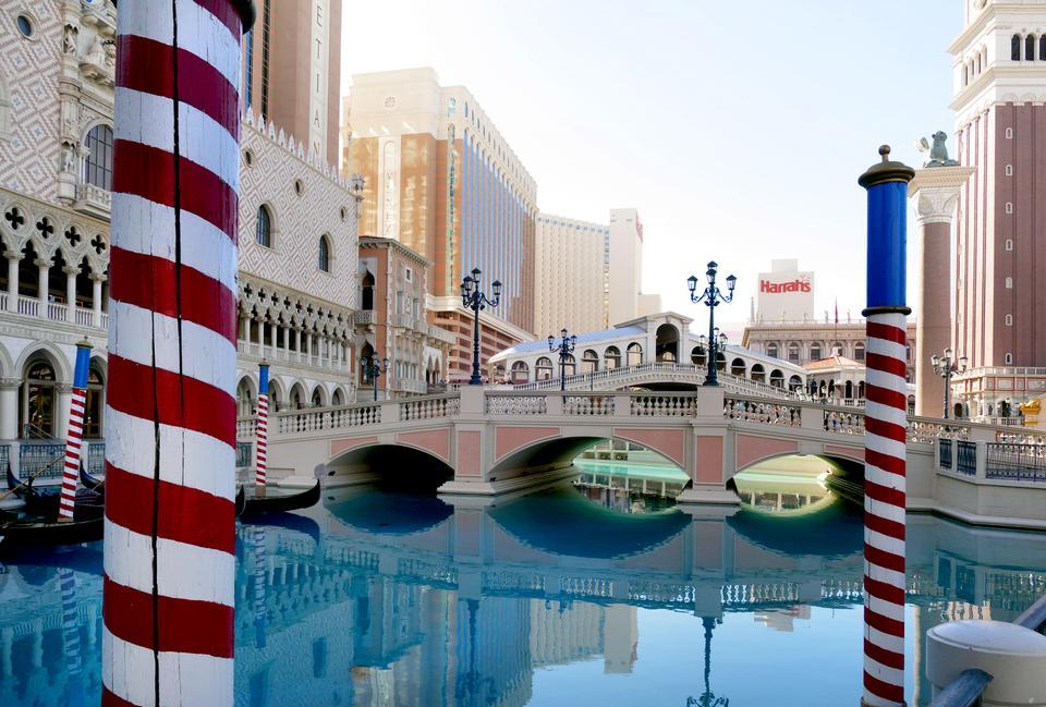 Венеция Ressort с гондолой в Лас-Вегасе