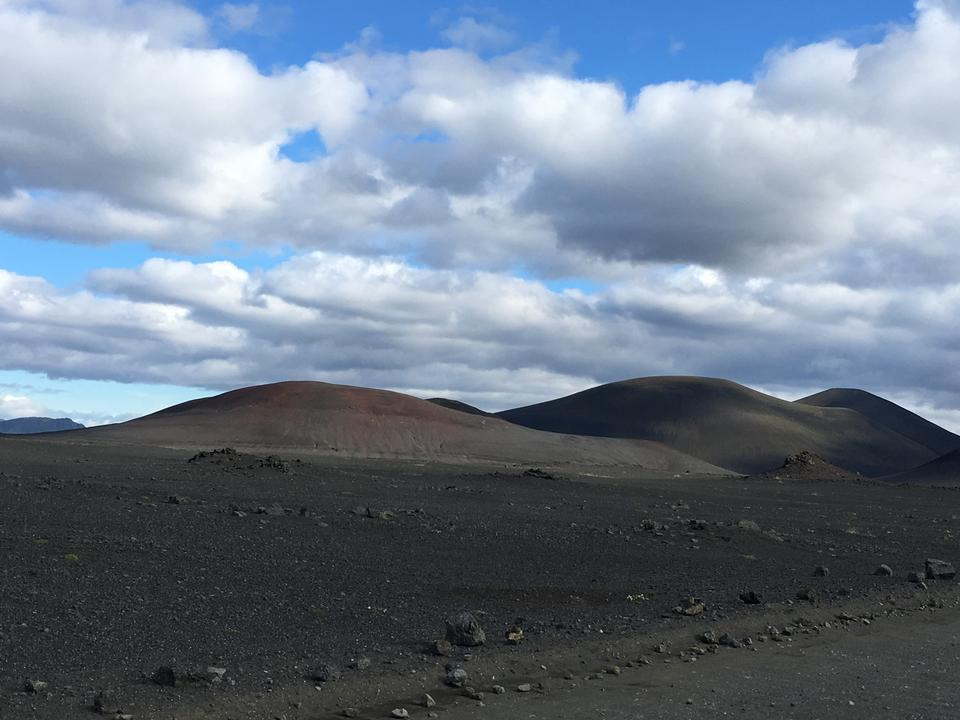 Beautiful Icelandic landscape with mountains