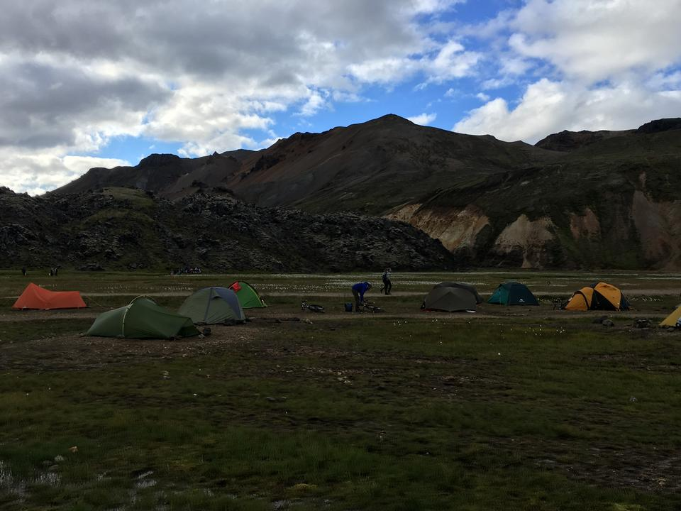 Campground in Thingvellir