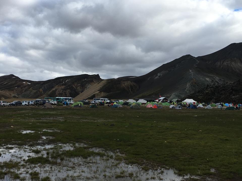 Campground in Thingvellir