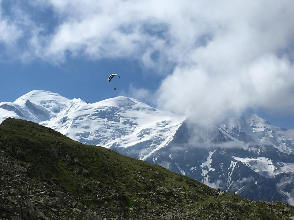 Paragliding in The Alps Brevent summit