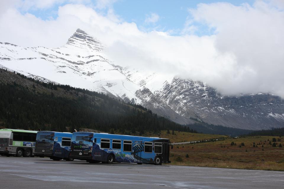 萨斯喀彻温省的冰川,班夫国家公园