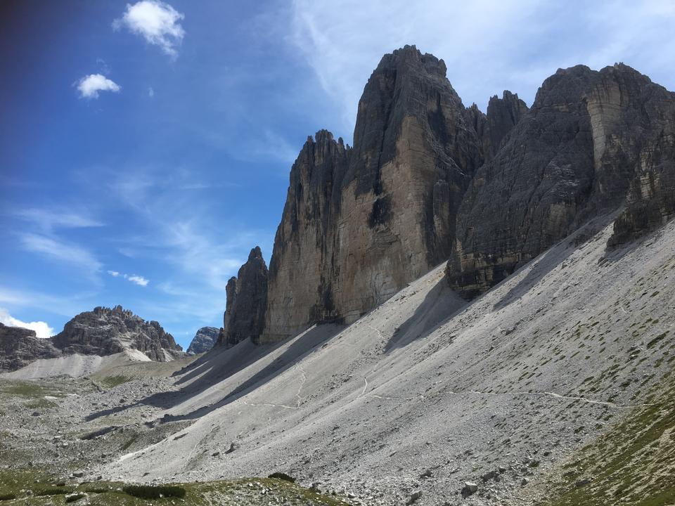 Rosengarten in summer, in the Italian Dolomites