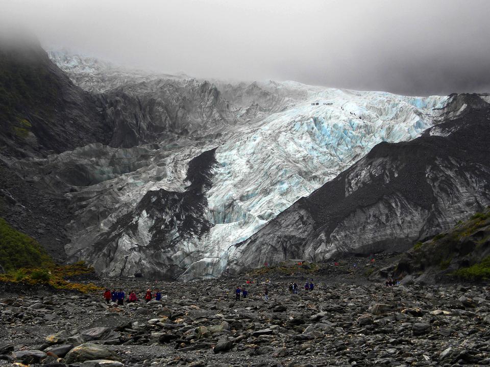 Winter Mountain Glacier Grey Blue