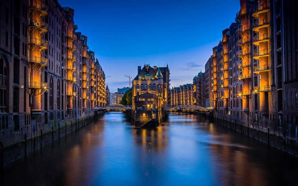 Tourist boat Hamburg Germany