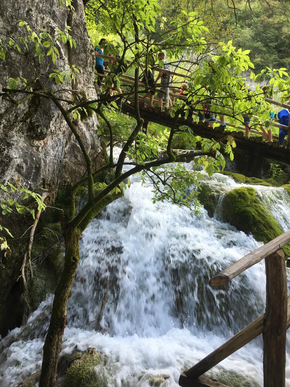Croatia. Plitvice Lakes National Park. Waterfalls Sostavtsy