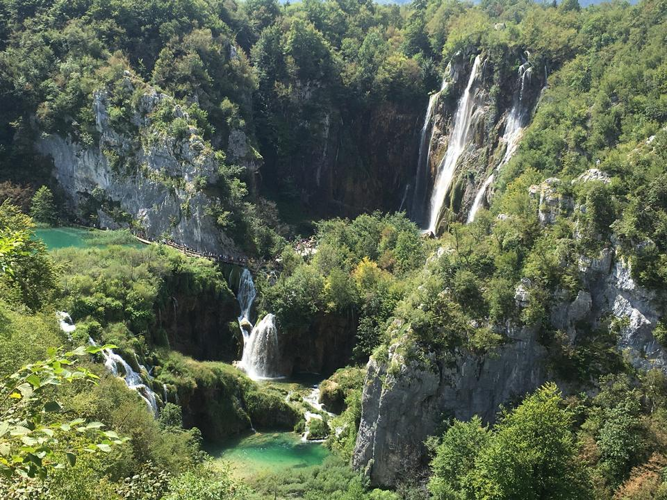 Croatia. Plitvice Lakes National Park. Waterfalls Sostavtsy