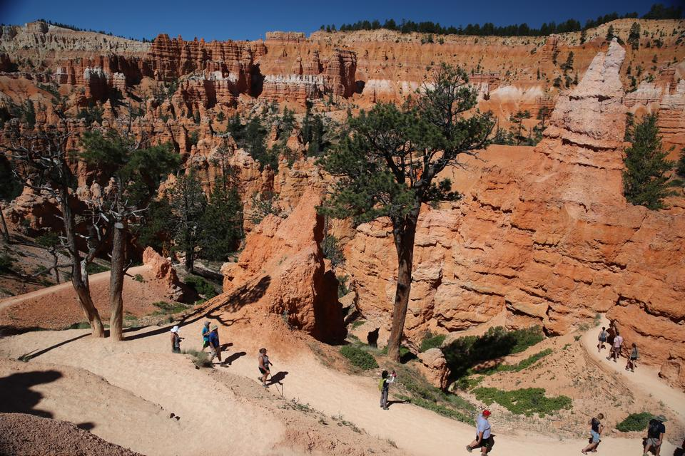 在猶他州布萊斯峽谷國家公園的徒步旅行路線