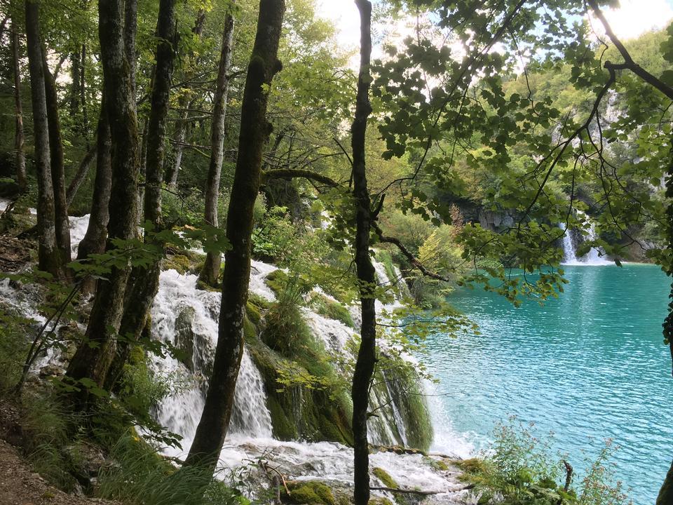 克罗地亚。十六湖国家公园。瀑布Sostavtsy
