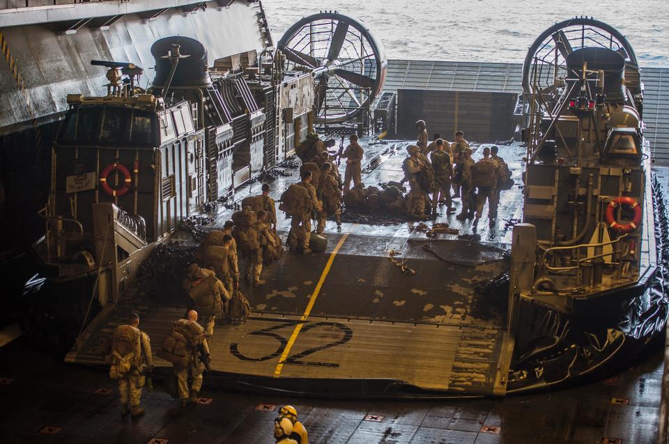 Marine Expeditionary Unit board Landing Craft