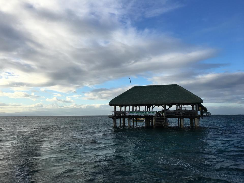 Pandanon 섬, 세부, 필리핀에 일몰