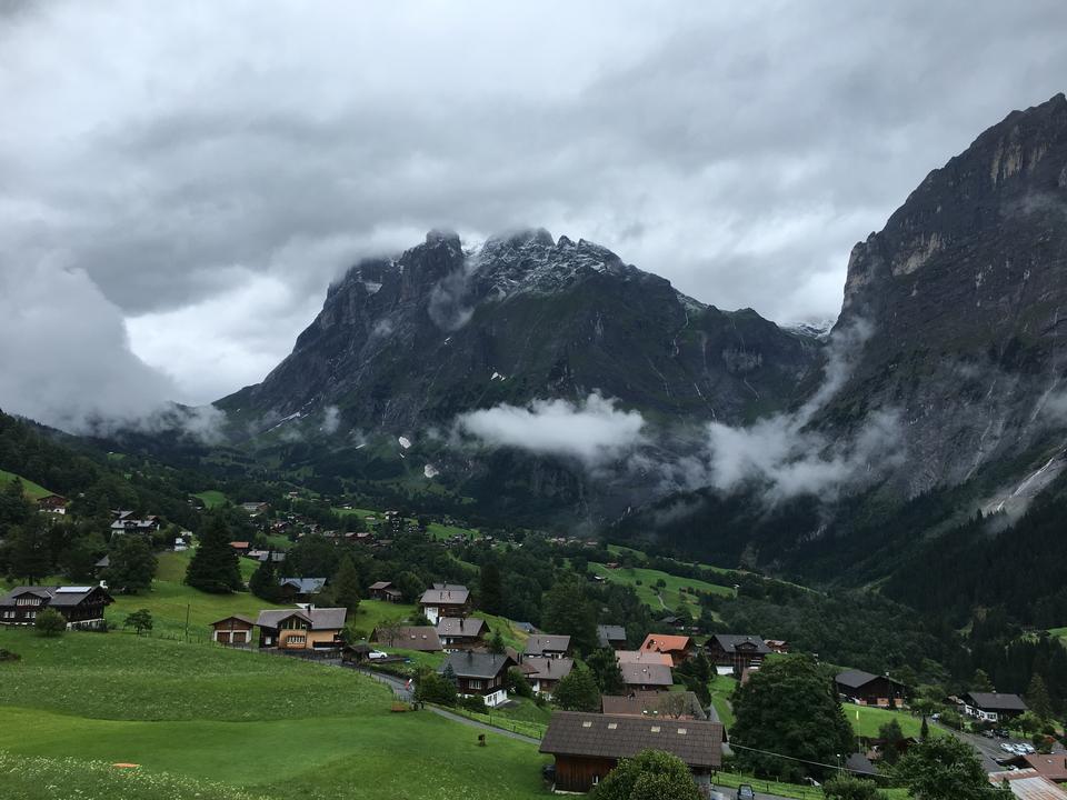 Monch and Jungfrau mountains in the Jungfrau region