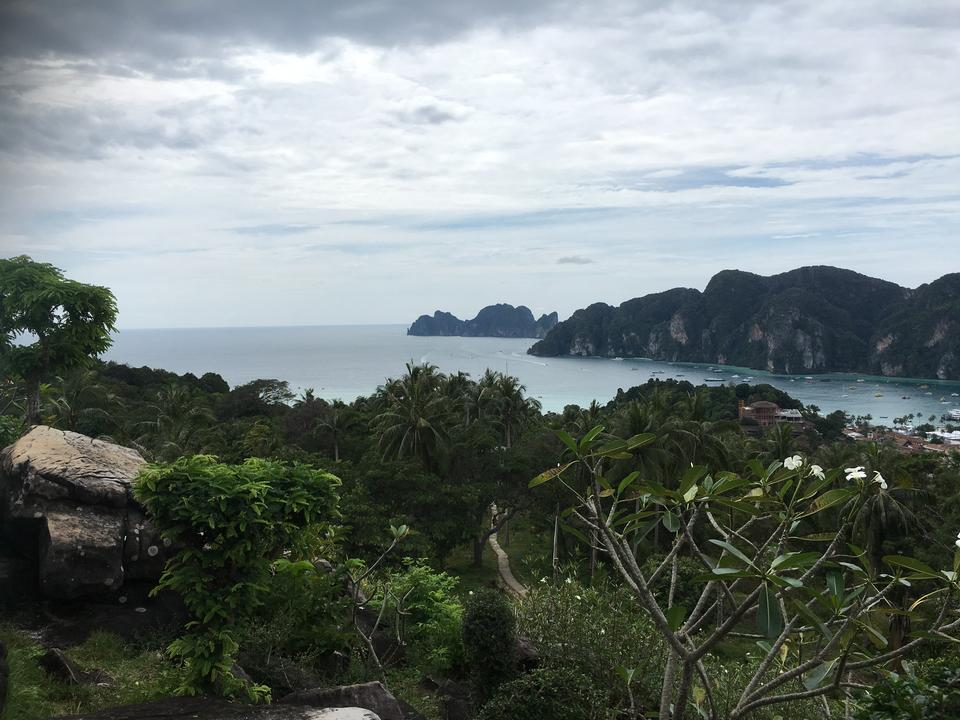 A scenic viewpoint from mountain top, Phuket, Thailand