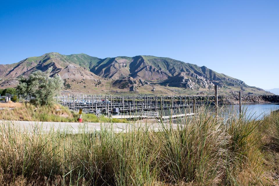 Great Salt Lake Marina in Utah, USA
