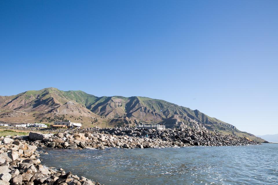 그레이트 솔트 레이크, 유타에 영양 섬