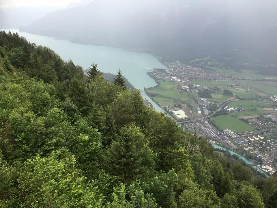 Switzerland, Interlaken, Thunersee. Harder Kulm