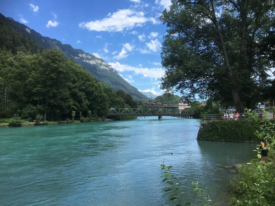 View over the River Aare, Interlaken, Switzerland