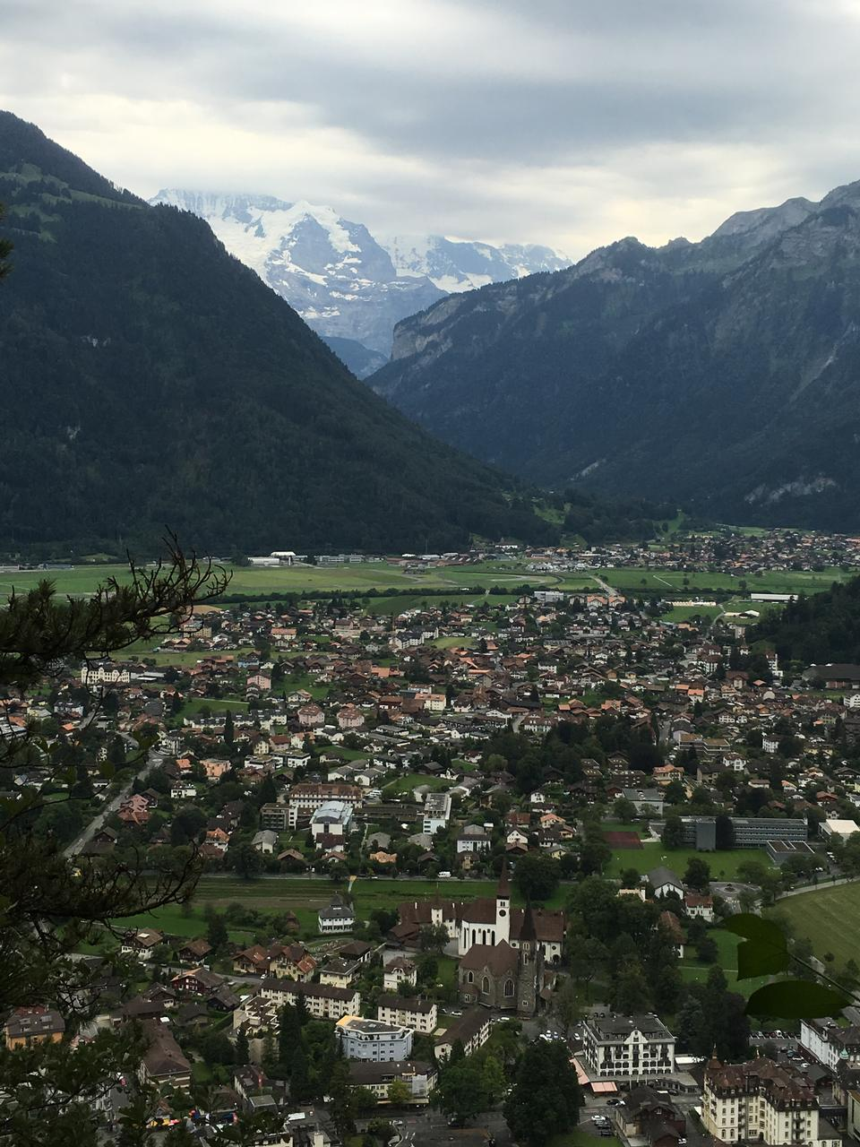 Switzerland, Interlaken, Thunersee. Harder Kulm