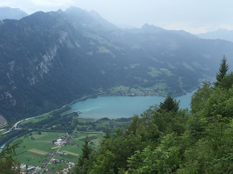 View over the River Aare, Interlaken, Switzerland