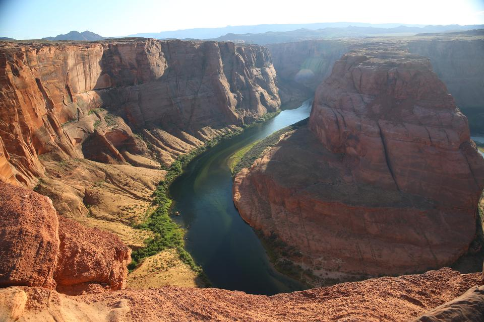 グレンキャニオンのコロラド川のアリゾナ州ホースシューベンドの蛇行