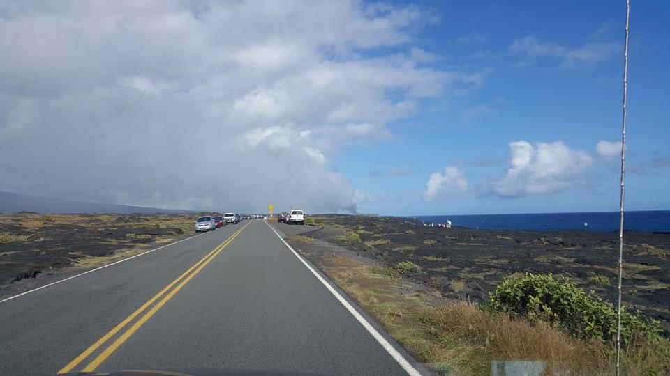 在火山國家公園,夏威夷的火山口路